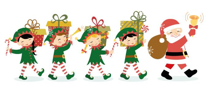 Elf clipart santa's workshop Santa clipart Santa & s