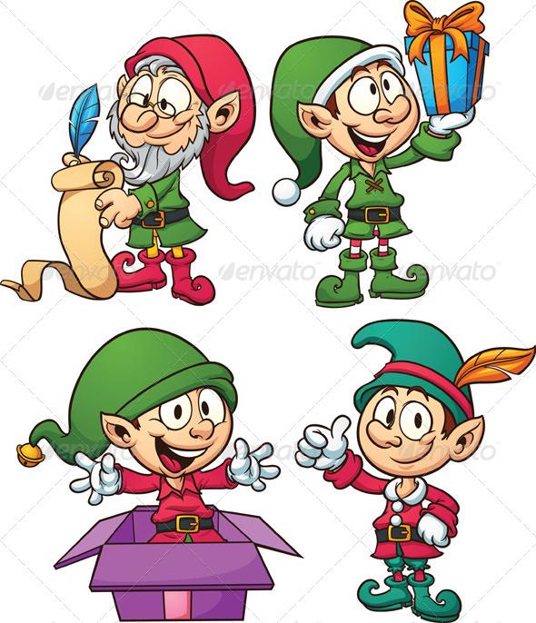 Elfen clipart santa's workshop And hats Elves Elves Christmas