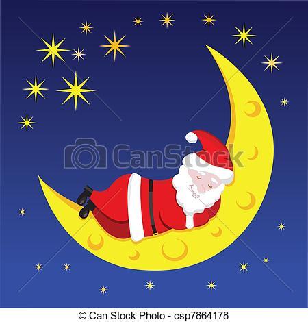 Elf clipart sleepy New moon of sleeping Santa