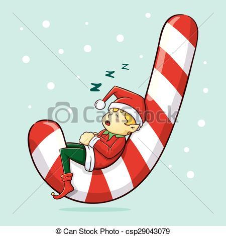 Elf clipart sleepy Christmas Illustration Elf Sleeping Elf