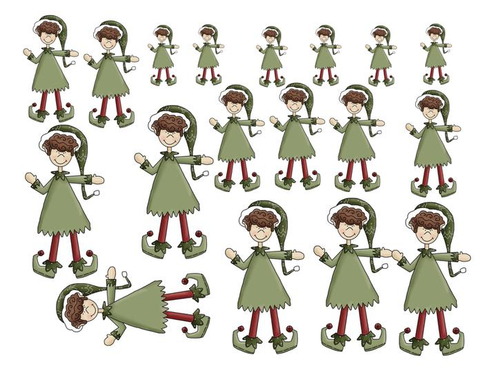 Elf clipart small Sorting art with large elf