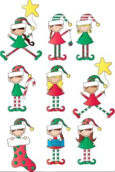 Elfen clipart little Christmas Clipart on Elves images