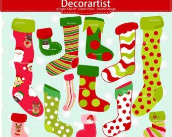 Elf clipart socks Clipart Stocking SALE clip art