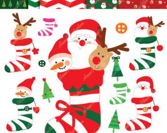 Elf clipart socks Etsy clipart Stockings Christmas digital