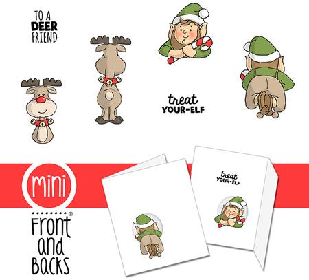 Elf clipart stamp Rubber Elves stamp set reindeer