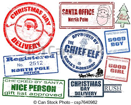 Elf clipart stamp Of isolated Illustration Set Christmas