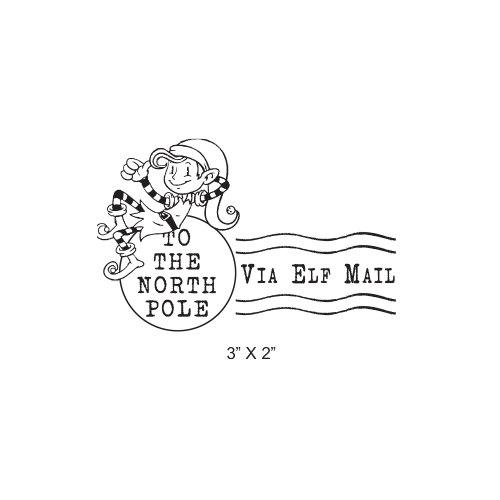 Elf clipart stamp Pole Stamp North stamp mail