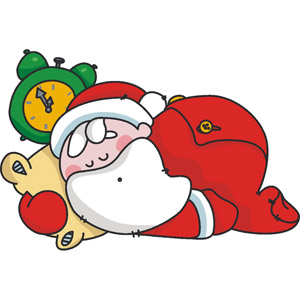Santa clipart tired #3