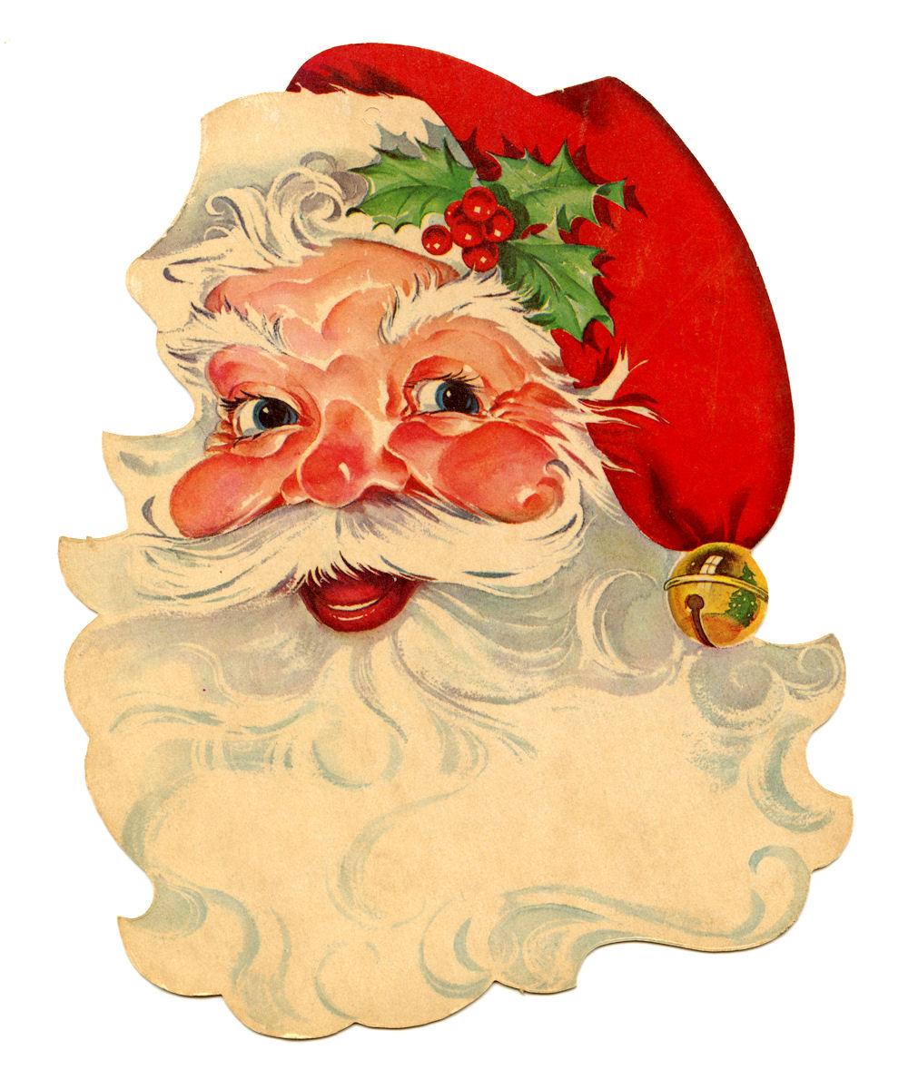 Santa clipart old fashioned #1