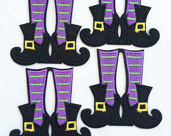 Elf clipart witch leg Boots elf Patches on Embroidery