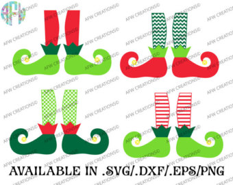 Elf clipart witch leg DXF Christmas Cut EPS Sack
