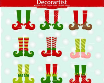 Elf clipart witch leg Elf clip legs Elf Christmas