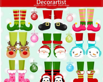 Elf clipart witch leg Feet clip legs Elf Christmas