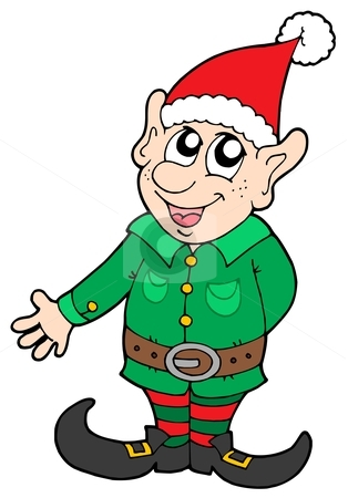 Elf clipart worried Vector stock elf Christmas elf