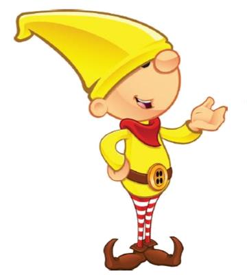 Elf clipart yellow An Santa's elf yellow Elf