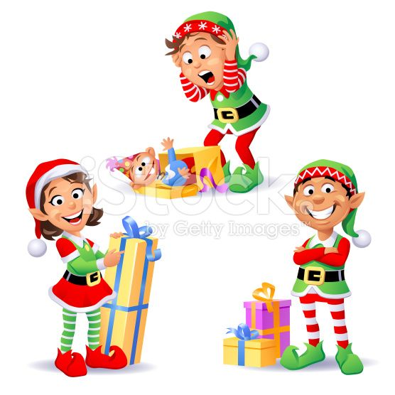 Elfen clipart animated Vector Elves Christmas art 27623109