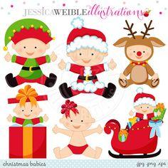 Elfen clipart baby elf Clipart Digital Christmas clipart Etsy