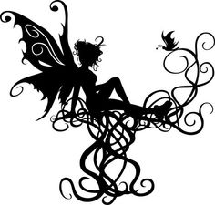 Elfen clipart black and white Free Fairy Fairy Search 9