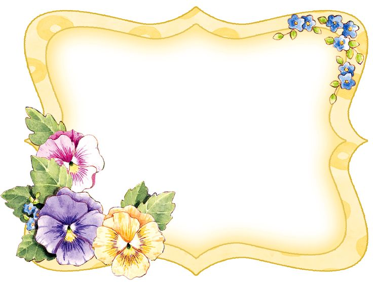 Pansy clipart vintage flower border #11