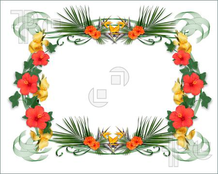 Elfen clipart border Border flowers Clip cutcaster with