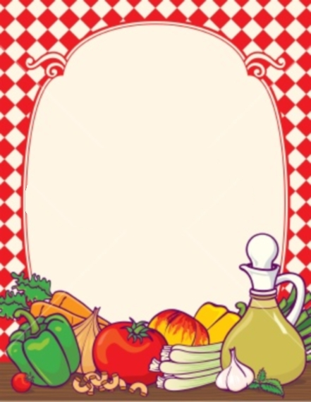 Frame clipart food Free vegetable free fruit and