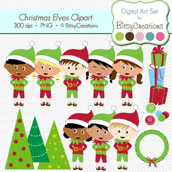 Elfen clipart brunch By Christmas Digital Clipart BitsyCreations
