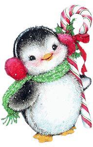Elfen clipart candy cane 7625 1 Penguins Colored penguin