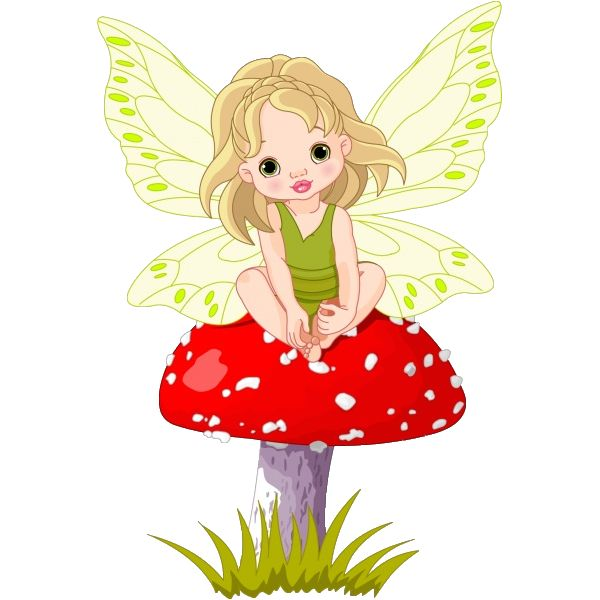 Elfen clipart cheeky Autumn Day fairy tale mushroom