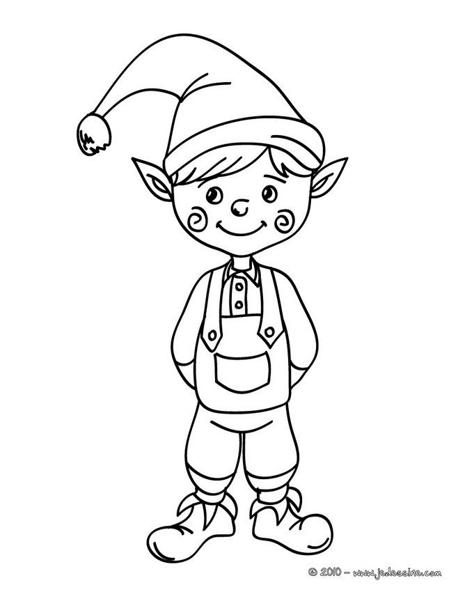 Elfen clipart coloring 17 out on elf machine