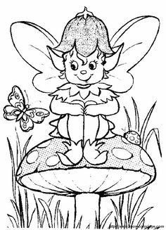 Elfen clipart coloring MIT elf Malvorlagen and Erwachsene