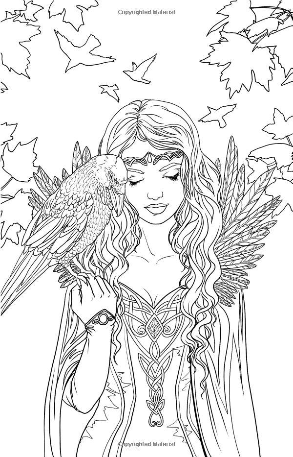 Elfen clipart coloring Dragon Selina coloring Elf Myth