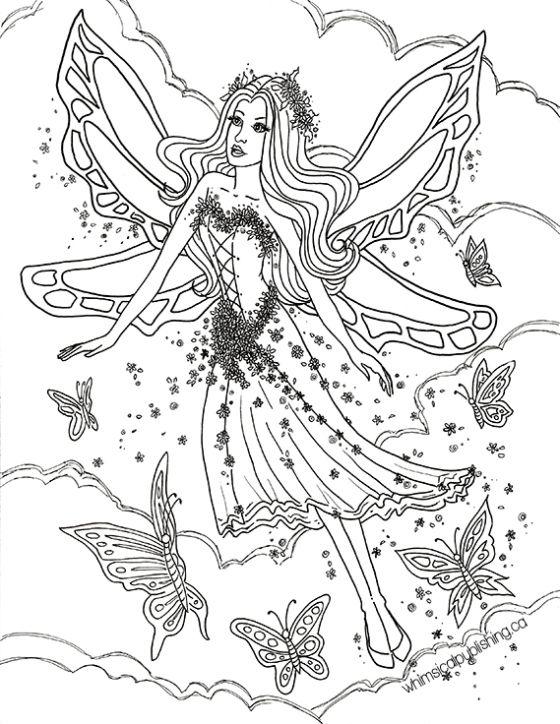Elfen clipart coloring Wings… Fairy Pinterest Legend Fantasy