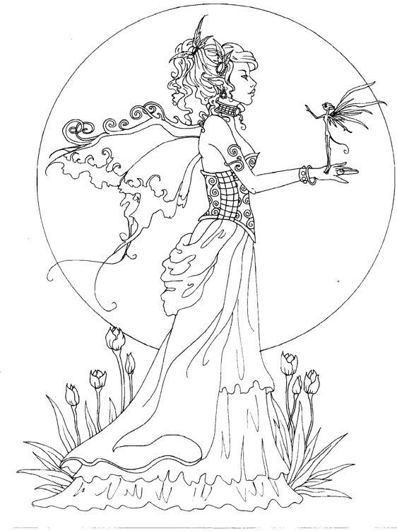 Elfen clipart coloring Elf Brown coloring Mystical book