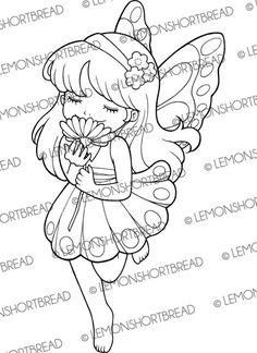Elfen clipart coloring  Summer Stamp Mermaid Fantasy