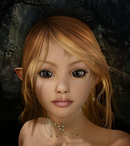 Elfen clipart elf face Images elfen best on Pinterest