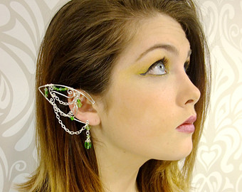Elfen clipart elf face Ear cuff and Silver ear