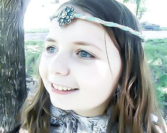 Elfen clipart elf head Blue Wedding circlet Elf Elf