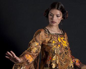 Elfen clipart elf movie Elven gold size tunic dress