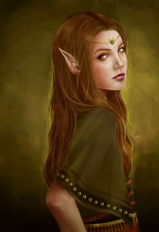 Elfen clipart female elf #Elf at ~ Pinterest deviantART