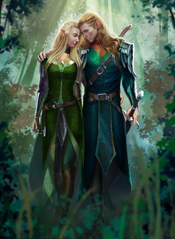 Elfen clipart female elf 25+ elven fantasy Couple wizard