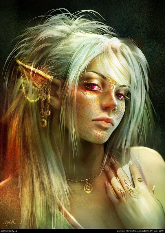 Elfen clipart female elf Elf and ideas portrait tattoos
