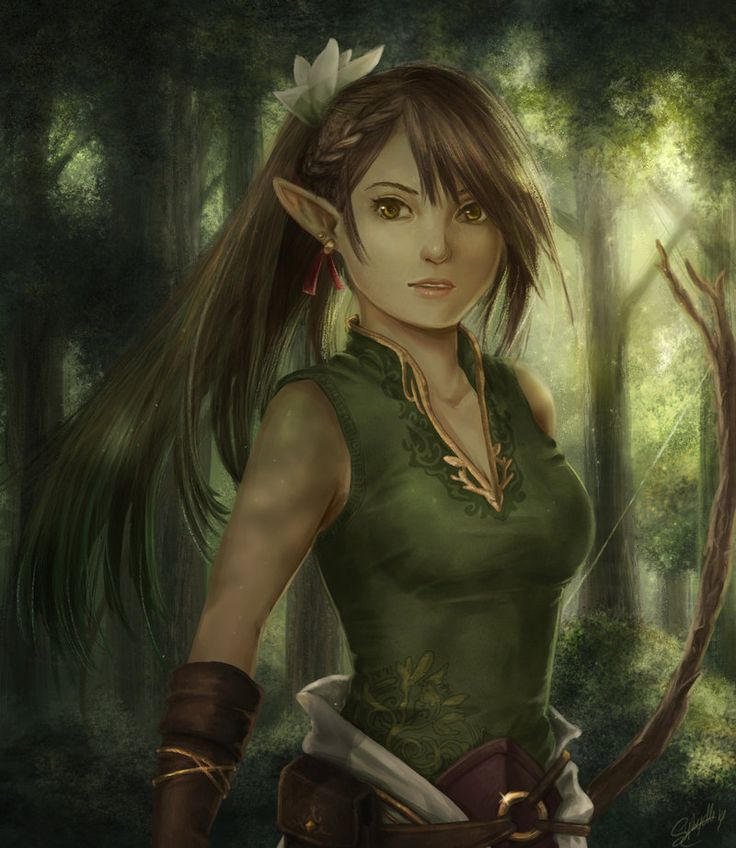 Elfen clipart female elf Elf Google fantasy Girl Google