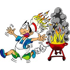 Elfen clipart funny Barbecue Barbecue While Funny BBQ