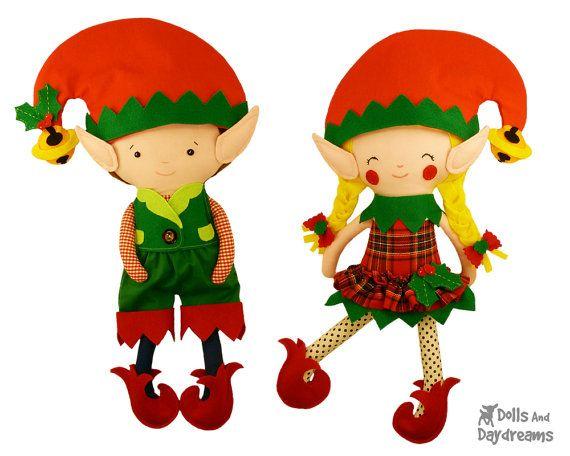 Elfen clipart funny Sewing $7 99 Elf DollsAndDaydreams