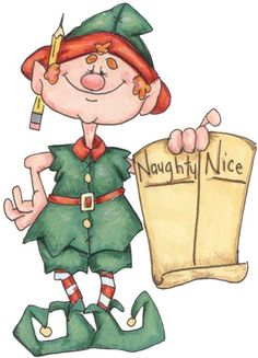 Elfen clipart happy holiday More Navidad Find on Duendes