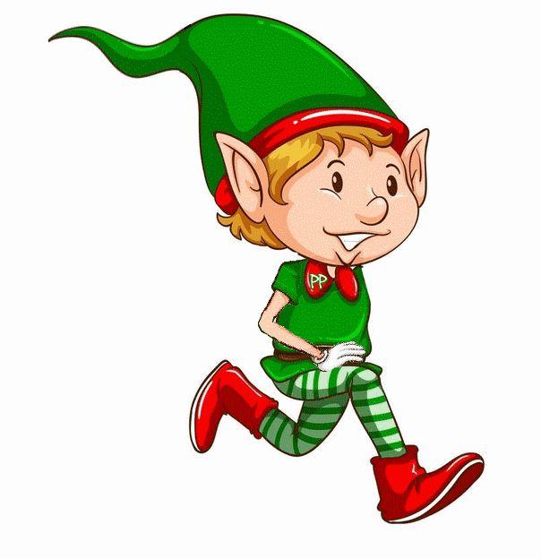 Elfen clipart happy holiday Recherche on lutins Google Pinterest