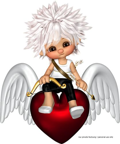 Elfen clipart heart Angels on Angels and on