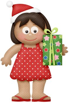 Elfen clipart holding presents Angel  Cute Stock christmas