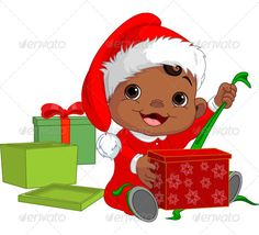 Elfen clipart holding presents Gift Open elf Search elves