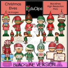 Elfen clipart holding presents Art con Duendes Educlips Christmas